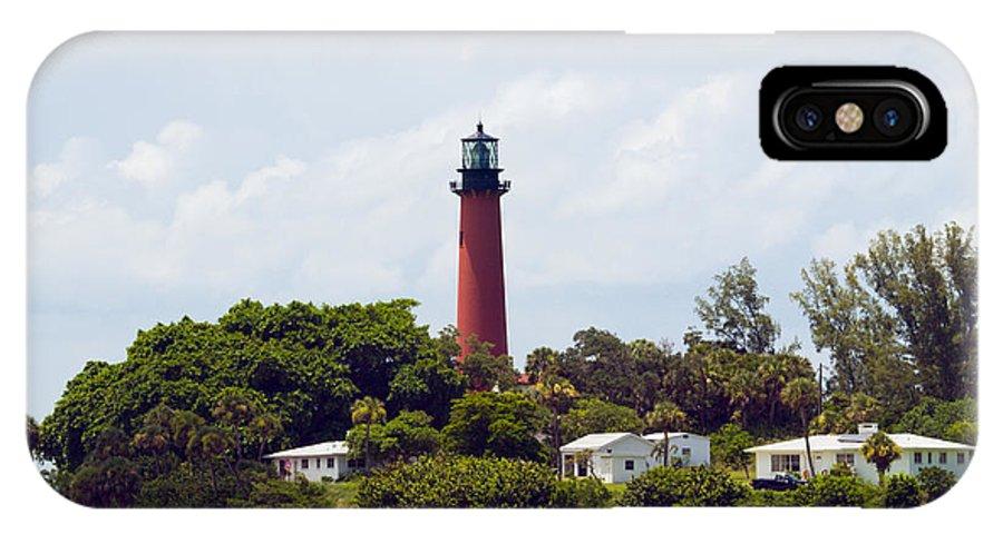 Florida; Juptier; Inlet; Loxahatchee; River; Atlantic; Coast; Shore; Beach; Light; Lighthouse; Beaco IPhone X Case featuring the photograph Jupiter Inlet Florida by Allan Hughes