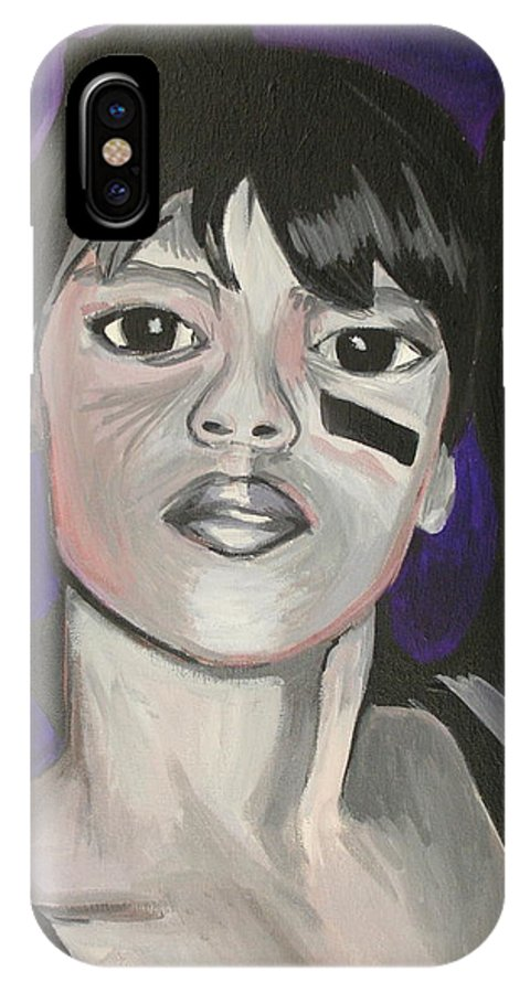 Lisa Lopez IPhone X Case featuring the painting Left Eye by Kate Fortin