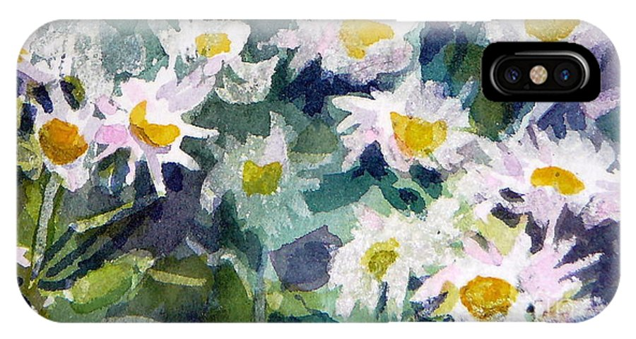 Flowers IPhone Case featuring the painting Little Asters by Jan Bennicoff