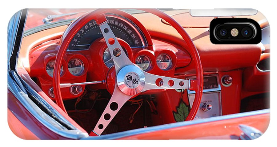 Corvette IPhone X Case featuring the photograph Little Red Corvette by Rob Hans