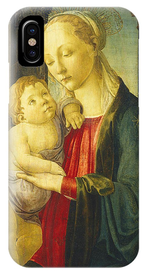 Madonna And Child IPhone X Case featuring the painting Madonna And Child by Sandro Botticelli