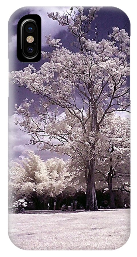 Infrared IPhone X Case featuring the photograph Magic Garden by Galeria Trompiz