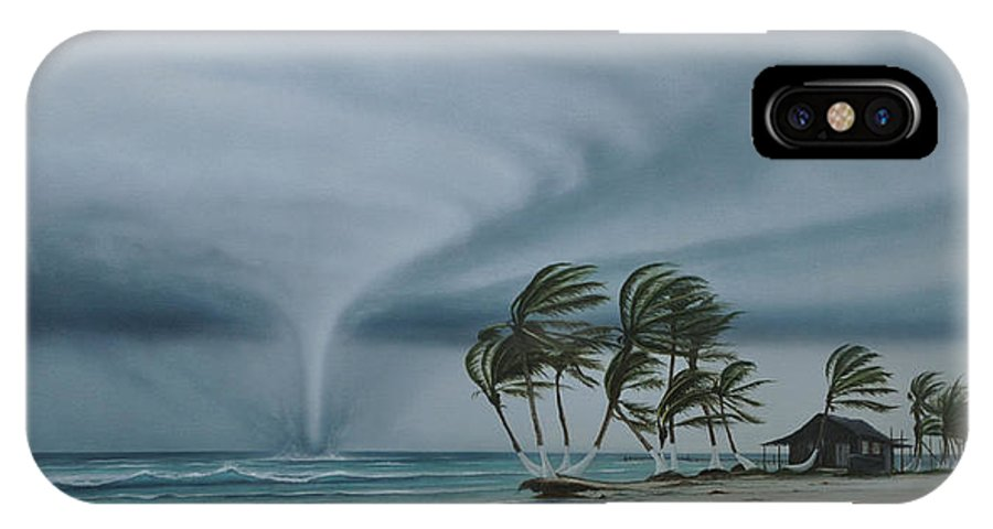 IPhone X Case featuring the painting Mahahual by Angel Ortiz