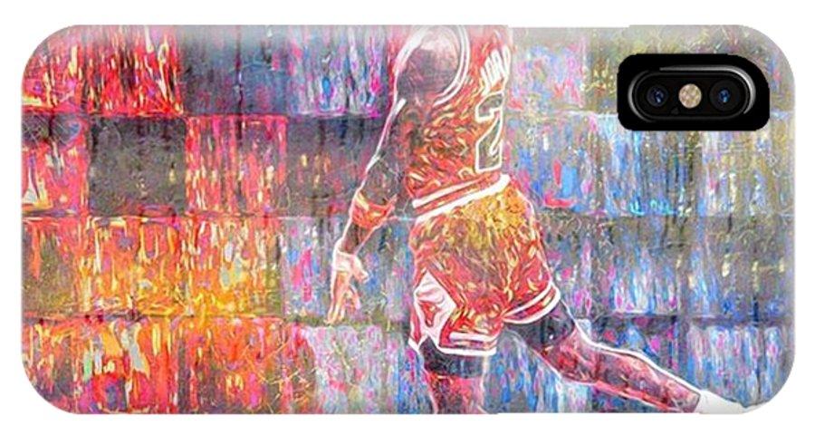 Tarheels IPhone X Case featuring the photograph Michael Jordan. Air Jordan. The by David Haskett II