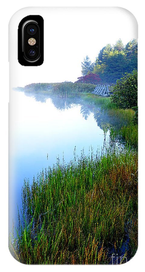 West Virginia IPhone X Case featuring the photograph Misty Morning Big Ditch Lake by Thomas R Fletcher