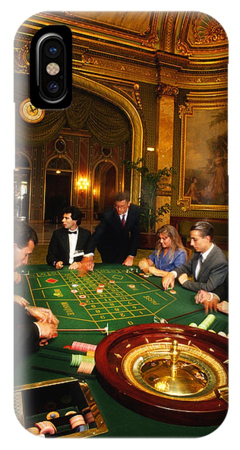 Casino IPhone X Case featuring the photograph Move Over James Bond by Carl Purcell