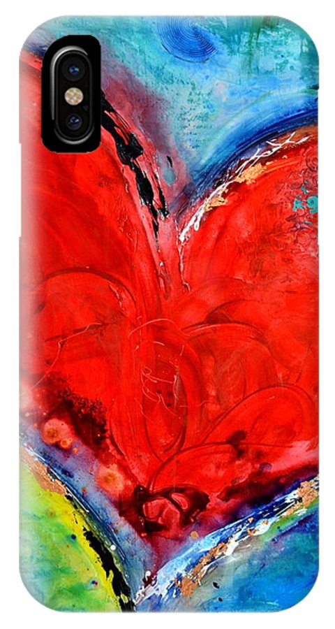 Heart IPhone X Case featuring the mixed media Music of the Heart by Ivan Guaderrama