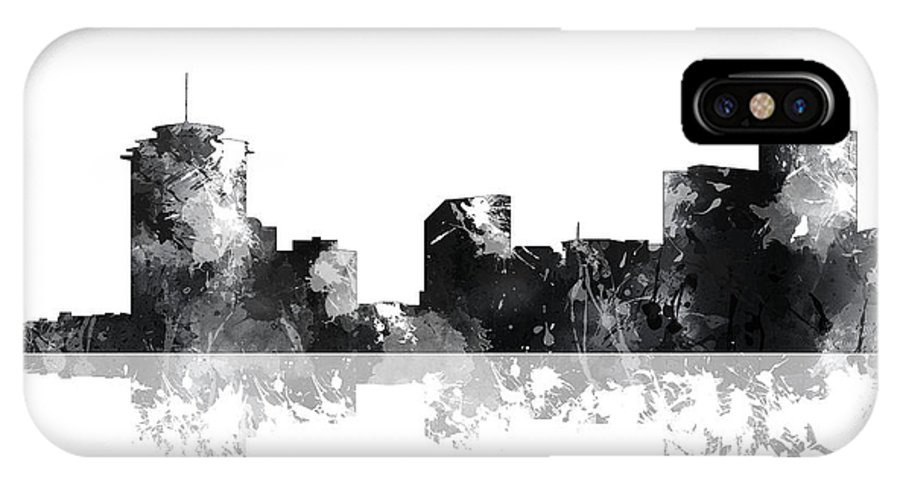 New Orleans Louisiana Skyline IPhone X Case featuring the digital art New Orleans Louisiana Skyline by Marlene Watson