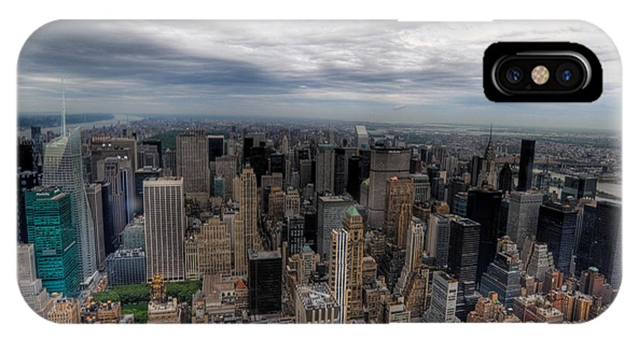 New York City IPhone X Case featuring the photograph New York New York by Don Mennig