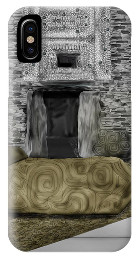 Newgrange IPhone Case featuring the painting Newgrange Ireland by Anne Norskog