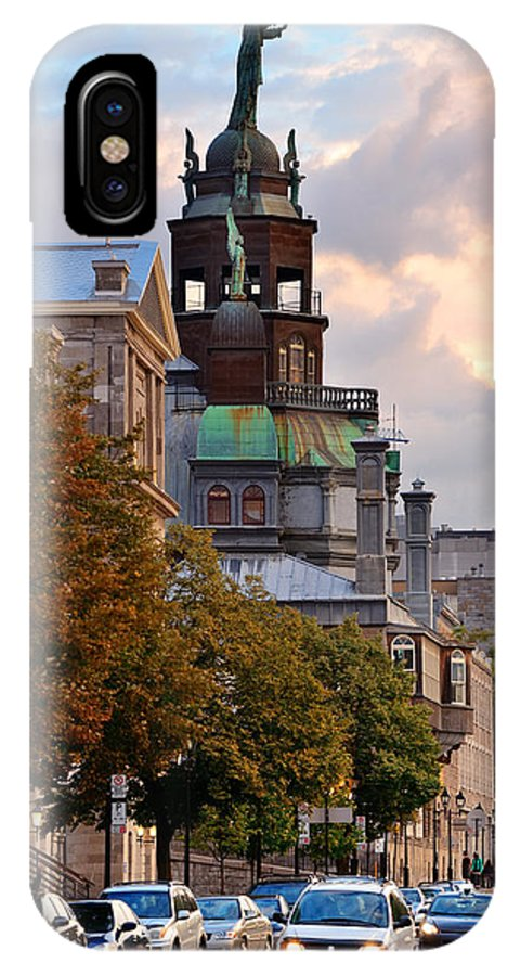 Montreal IPhone X Case featuring the photograph Old Montreal by Songquan Deng