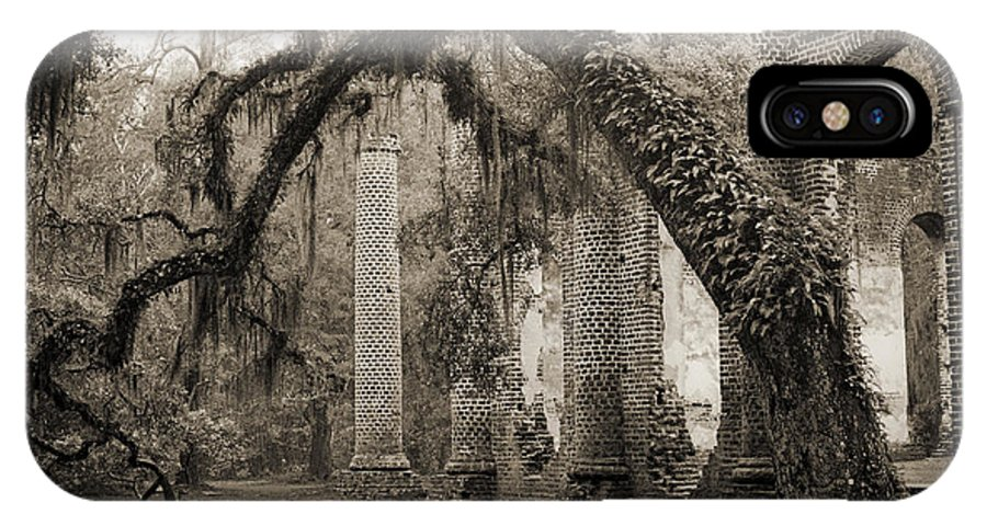 Old Sheldon Church IPhone X Case featuring the photograph Old Sheldon Church Ruins by Dustin K Ryan
