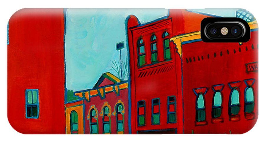 City IPhone X Case featuring the painting Opera House by Debra Bretton Robinson