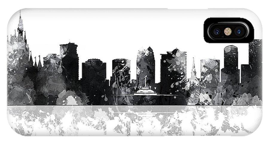 Orlando Florida Skyline IPhone X Case featuring the digital art Orlando Florida Skyline by Marlene Watson
