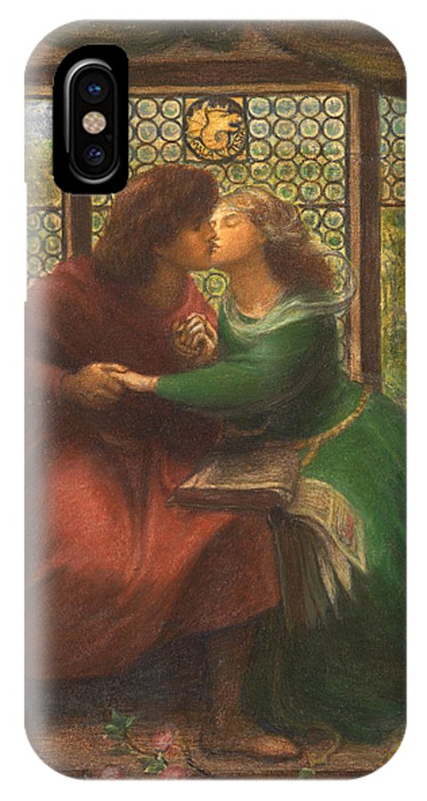 Dante Gabriel Rossetti IPhone X Case featuring the painting Paolo And Francesca Da Rimini by Dante Gabriel Rossetti