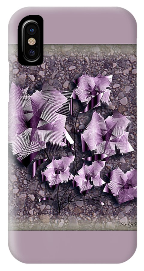 Flowers IPhone X Case featuring the digital art Paper Flowers by Iris Gelbart