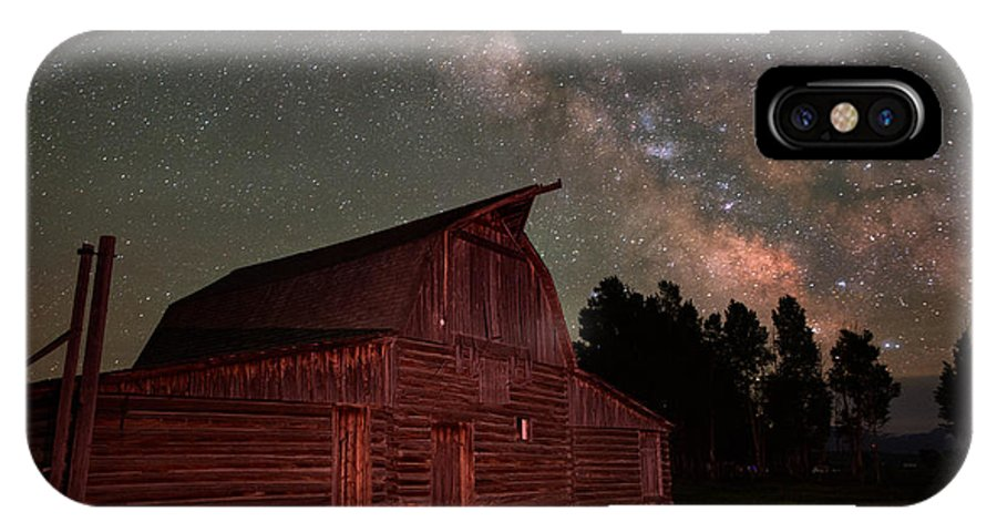 All Rights Reserved IPhone X / XS Case featuring the photograph 2 Percent Milk At The Moulton Barn by Mike Berenson