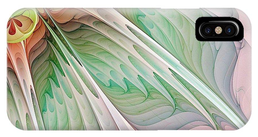 Digital Art IPhone Case featuring the digital art Petals by Amanda Moore