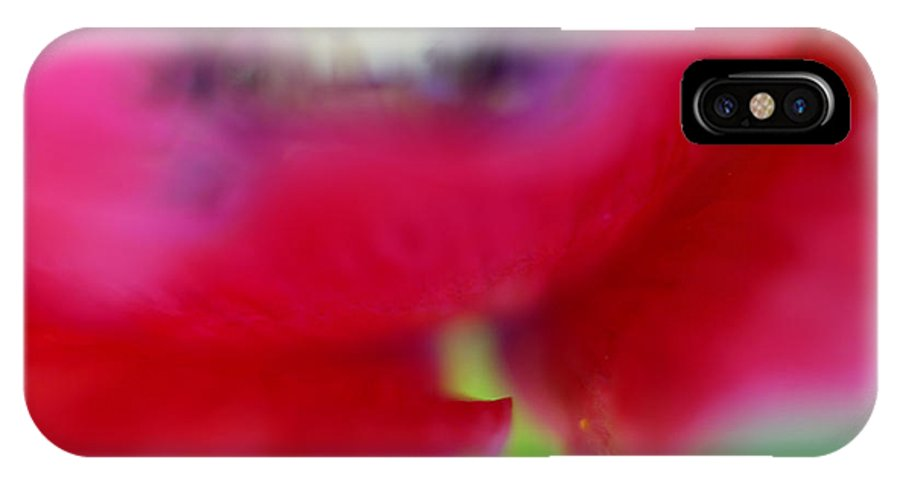 Flower IPhone X Case featuring the photograph Poppy by Silke Magino