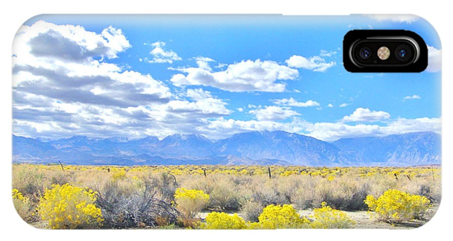 Sky IPhone X Case featuring the photograph Pure Country by Marilyn Diaz