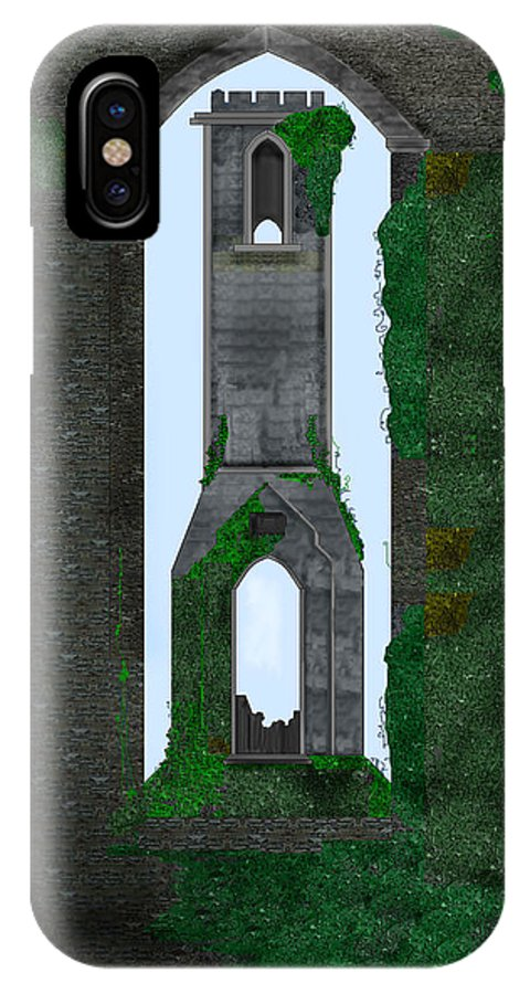 Ireland IPhone X Case featuring the painting Quint Arches In Ireland by Anne Norskog