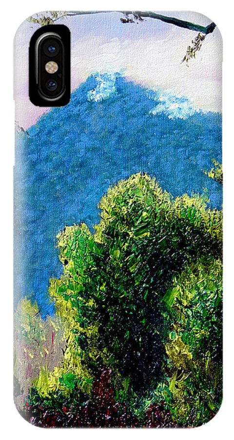 Rain Forrest IPhone X Case featuring the painting Rain Forrest by Stan Hamilton