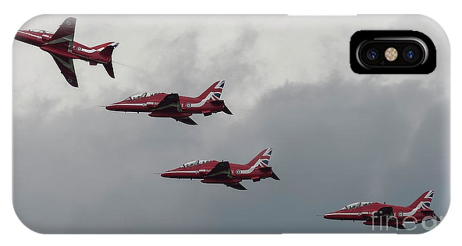Red IPhone X Case featuring the photograph Red Arrows by Philip Pound