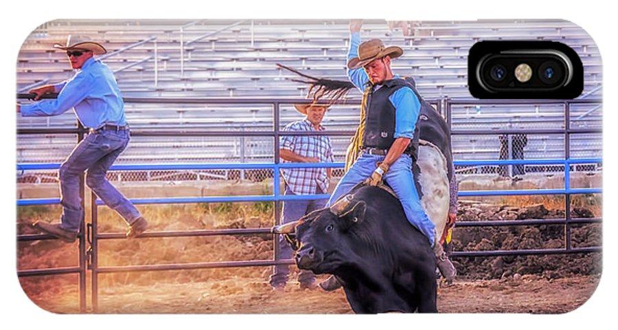 Sport IPhone X Case featuring the photograph Rodeo Rider by LeeAnn McLaneGoetz McLaneGoetzStudioLLCcom