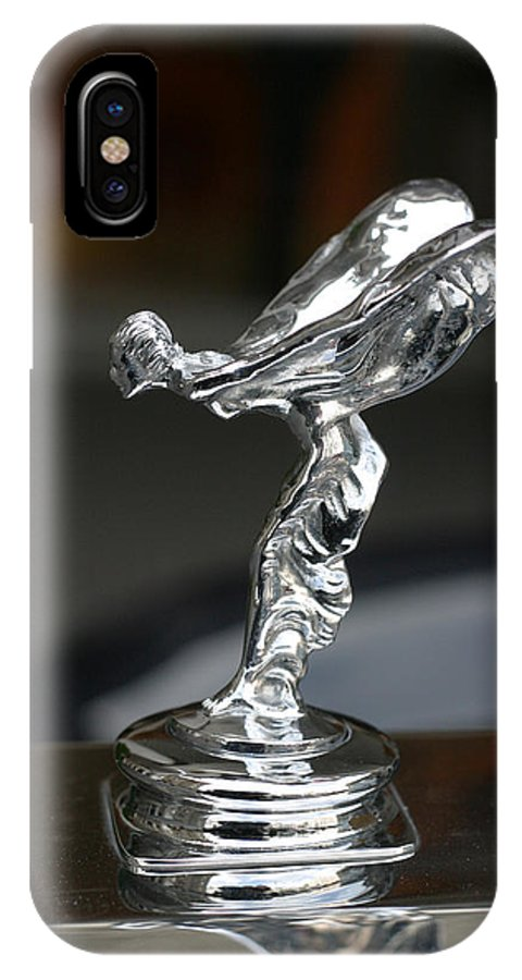 Luxury IPhone X Case featuring the photograph Rolls Royce Hood Ornament by Carl Purcell