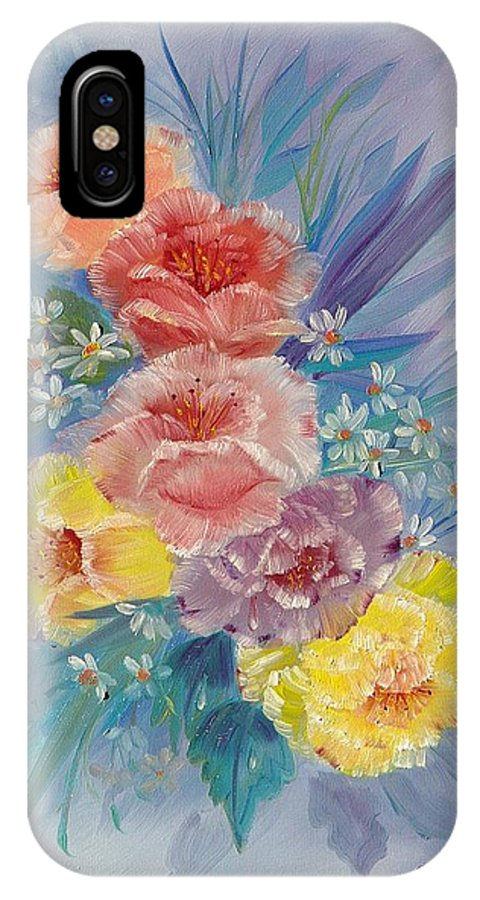 Roses IPhone Case featuring the painting Roses by Quwatha Valentine