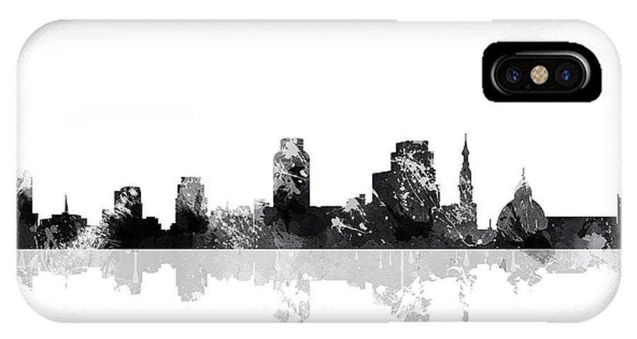 Sacramento California Skyline IPhone X Case featuring the digital art Sacramento California Skyline by Marlene Watson