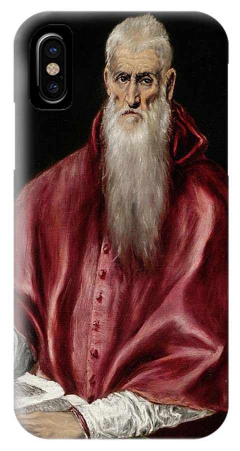 Catholic IPhone X Case featuring the painting Saint Jerome As Scholar by El Greco