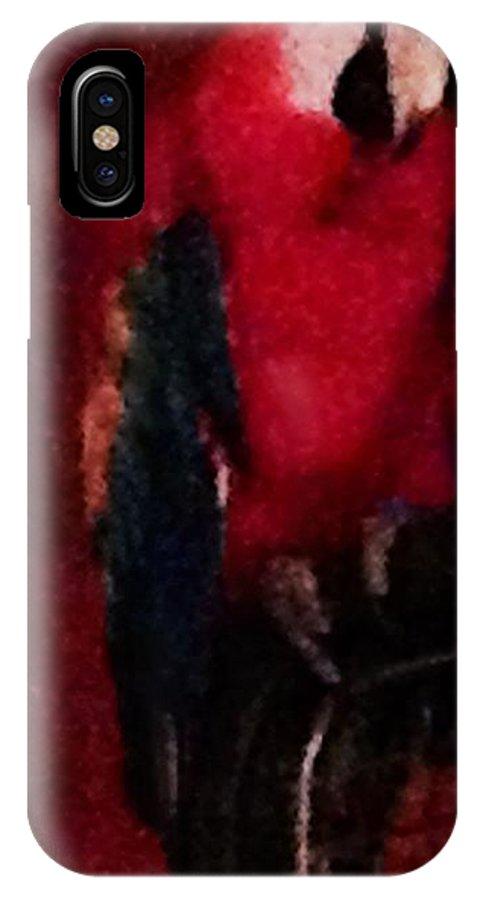 Scarlet Macaw  IPhone X Case featuring the digital art Scarlet Macaw by Dawn Johansen