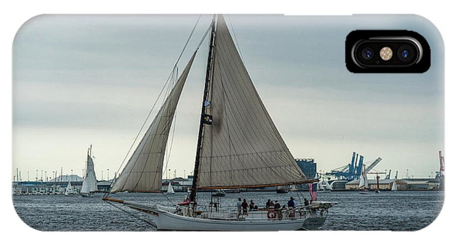 2017 IPhone X Case featuring the photograph Skipjack by Jim Archer