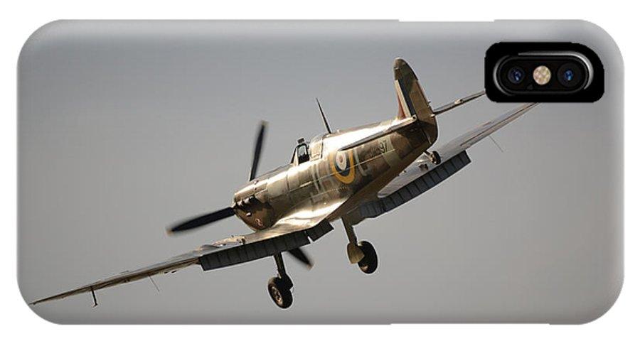 Spitfire IPhone X Case featuring the digital art Spitfire Bm597 Jh-c by Nigel Bangert