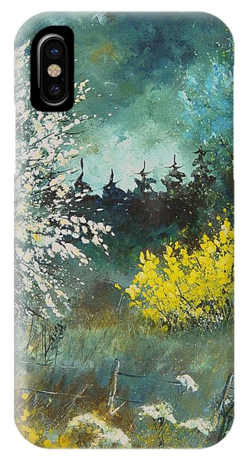 Spring IPhone X Case featuring the painting Spring by Pol Ledent
