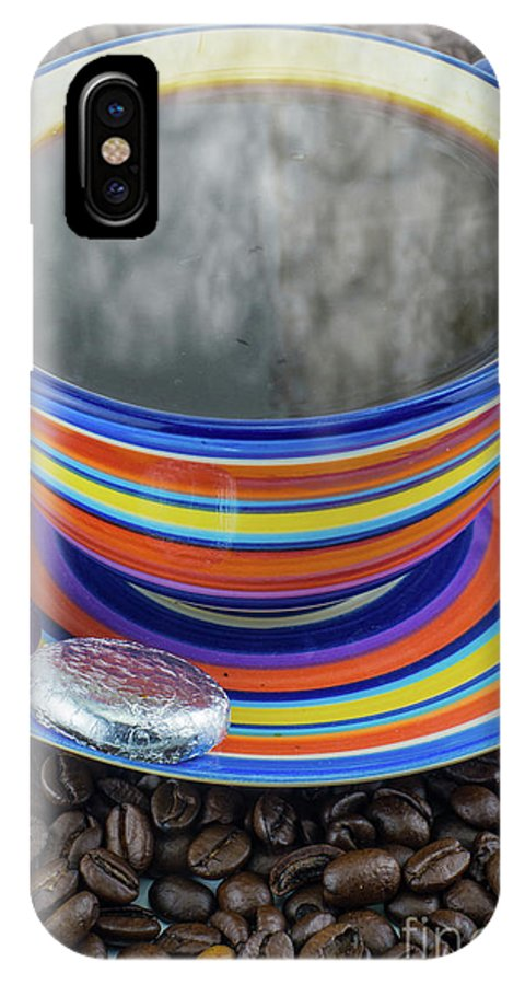 Bean IPhone X Case featuring the photograph Steaming Coffee by F Helm