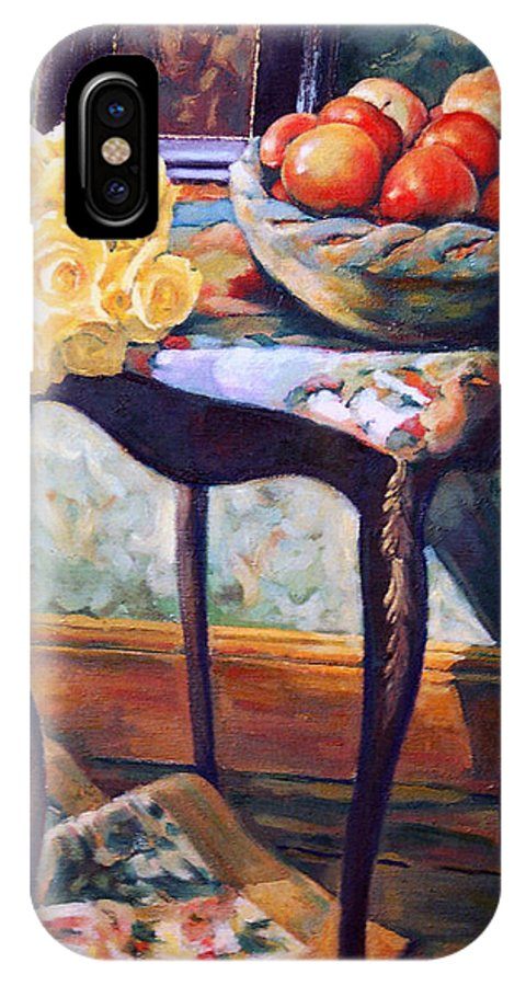 Still Life IPhone Case featuring the painting Still Life With Roses by Iliyan Bozhanov