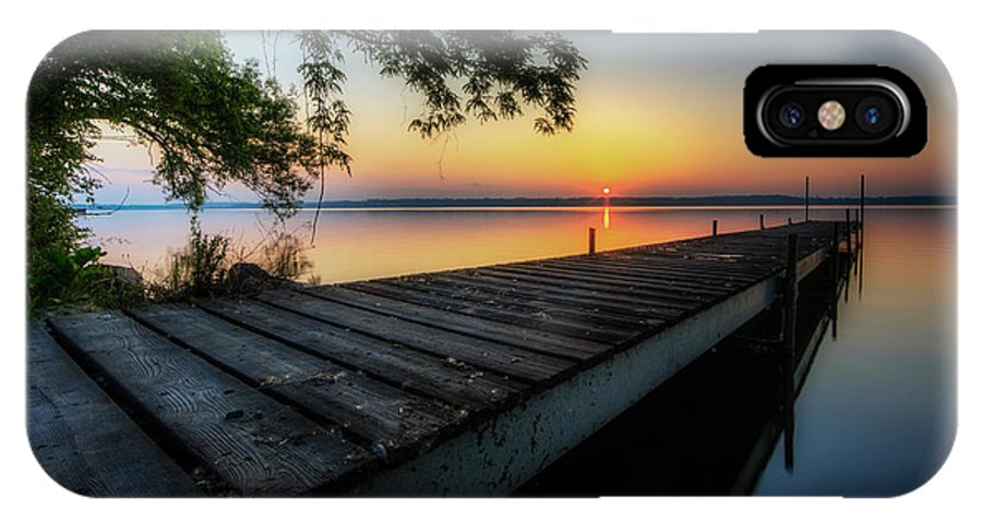 Sunrise IPhone X Case featuring the photograph Sunrise Over Cayuga Lake by Everet Regal