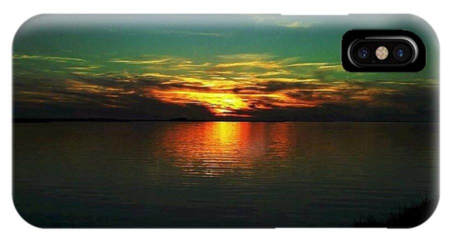 Sunset IPhone X Case featuring the digital art Sunset by Dawn Johansen