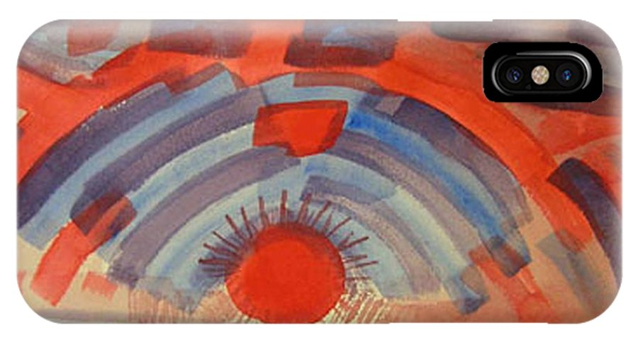 Landscape IPhone Case featuring the painting Sunset On The Horizon by Natalee Parochka