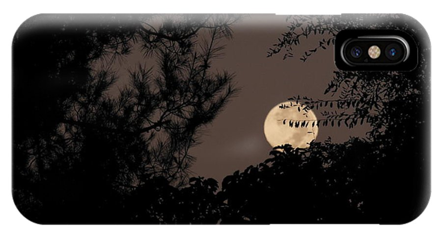 Moon IPhone X / XS Case featuring the photograph Super Moon by Eclectic Captures