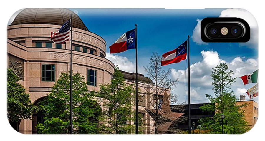 Bullock Texas State History Museum IPhone X Case featuring the photograph The Bullock Texas State History Museum by Mountain Dreams