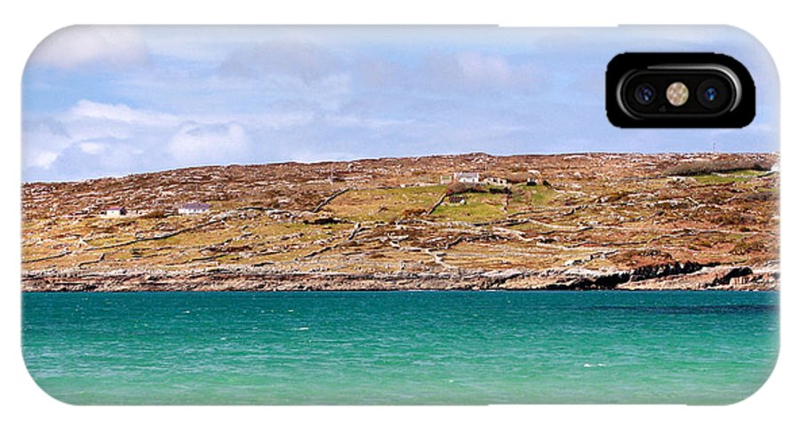 Dogs Bay IPhone X Case featuring the photograph The Turquoise Water Of Dogs Bay Ireland by Pierre Leclerc Photography