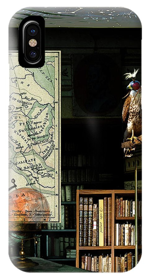 Astrologer IPhone X Case featuring the mixed media The Victorian Astronomer by Thomas Pollart