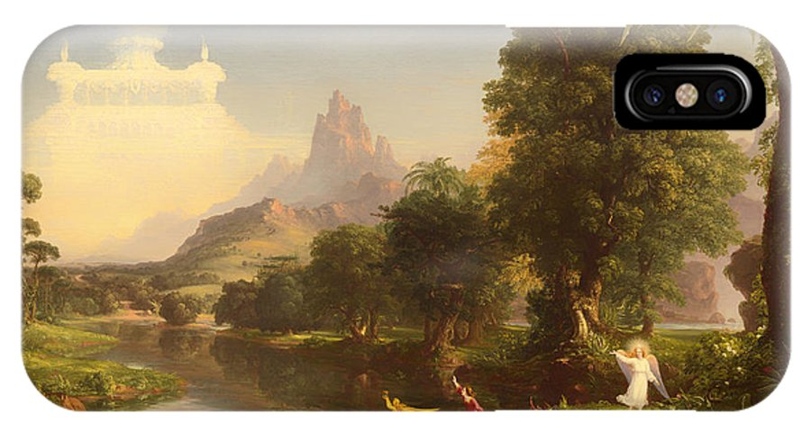 Painting IPhone X / XS Case featuring the painting The Voyage Of Life - Youth by Mountain Dreams