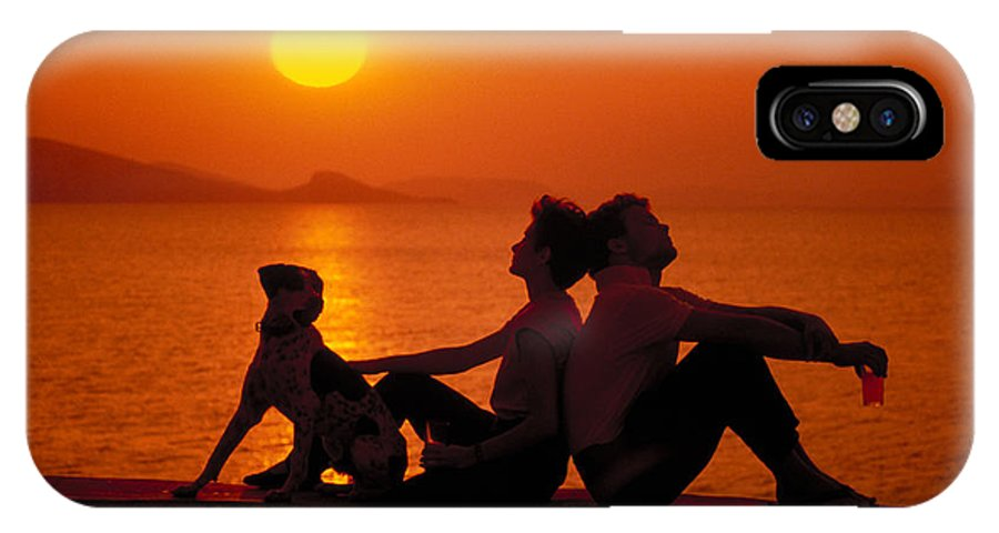 Man IPhone X Case featuring the photograph Three Friends by Carl Purcell