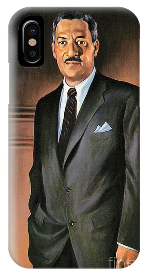 1st IPhone X Case featuring the photograph Thurgood Marshall by Granger