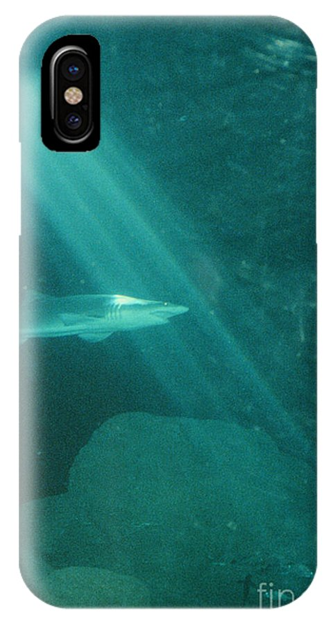 Sharks IPhone X Case featuring the photograph Close Encounters by Jeffery L Bowers
