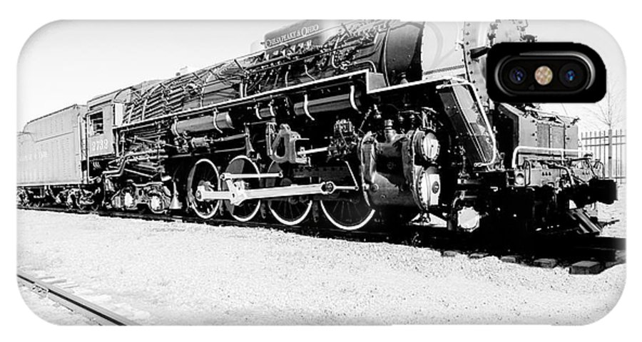 Photoshop IPhone X / XS Case featuring the photograph Train Engine #2732 by Melissa Messick